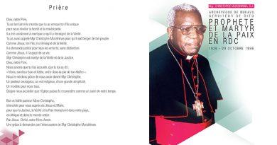 Mgr Christophe Munzihirwa: un futur Bienheureux de l'Eglise?