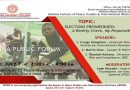 Hekima College Public Forum about elections in Kenya