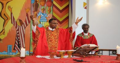 Fr Orobator and Fr Kifle Wansamo during Hekima launch academic year
