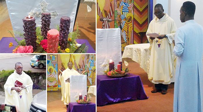 Père Joachim Zoundi SJ lors de la St François Xavier
