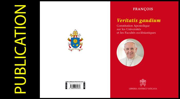 Veritatis gaudium: nouvelle Constitution pour les études ecclésiastiques
