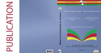 Nouvelle publication: Bible et Leadership en Afrique