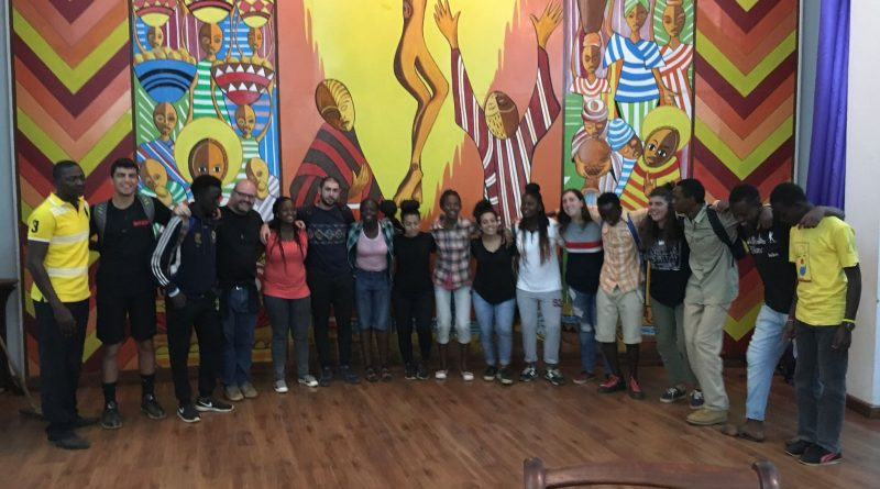 With some youths of EYM at the Hekima Chapel
