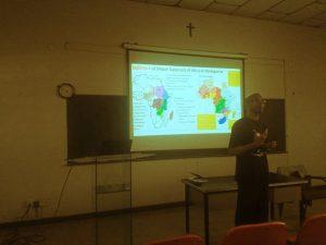 Fr. Emmanuel Orobator SJ during his presentation