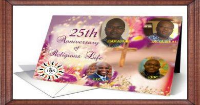 25ans SJ: Emmanuel Foro, Eric Goeh-Akue, Jacquineau Azetsop,  et Luc Amoussou