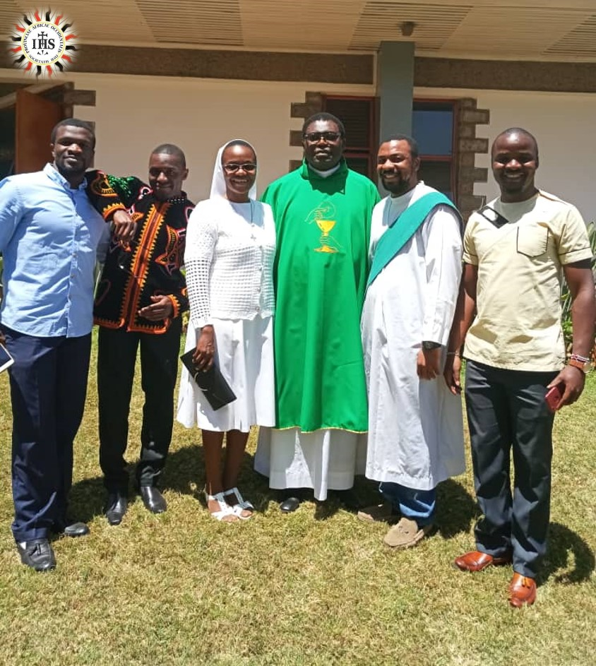 Executive religious from Cameroon in Kenya with Fr Peter Foleng