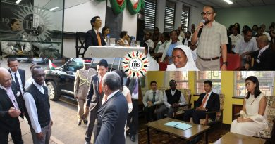 President of Madagascar visiting diaspora at Hekima University College