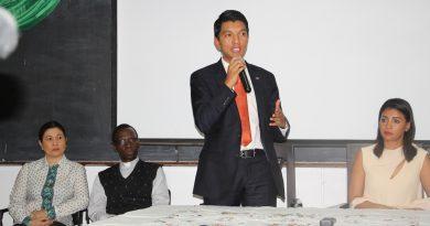 Président Andry Rajoelina et la First Lady Mialy Rajoelina à Hekima