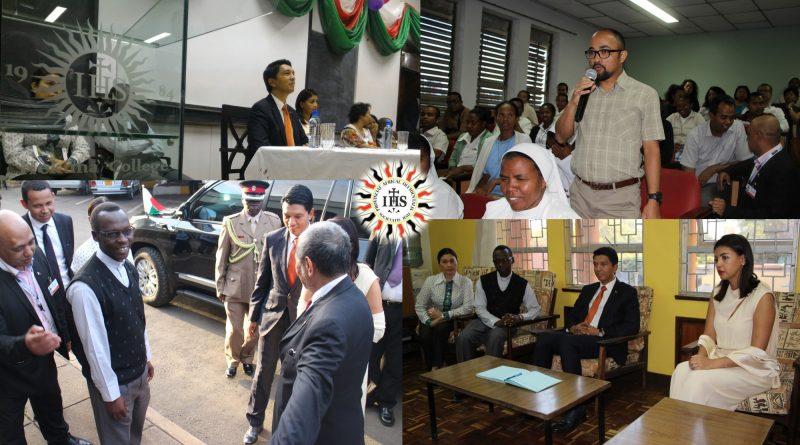 President of Madagascar visiting diaspora at Hekima University College